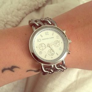 Michael Kors Silver Watch Chain Link Bands